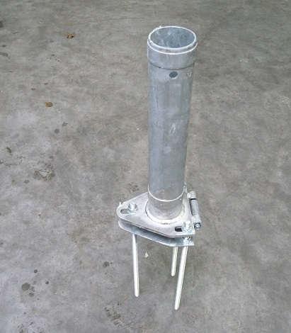 Kantelanker voor aluminium mast