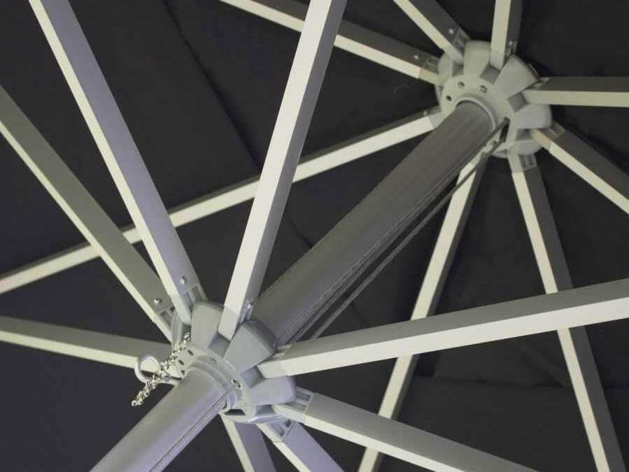 Parasol: Rond Ø 300 cm met koordsysteem